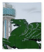 Dallas Pegasus Reunion Tower Green 030518 Fleece Blanket