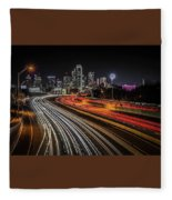 Dallas Skyline Fleece Blanket
