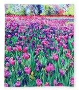 Dallas Tulips Fleece Blanket