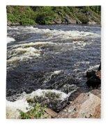 Dalles Rapids French River I Fleece Blanket