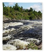 Dalles Rapids French River II Fleece Blanket