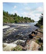 Dalles Rapids French River Iv Fleece Blanket
