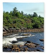 Dalles Rapids French River Ontario Fleece Blanket