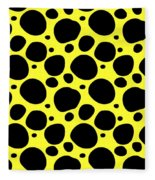 Dalmatian  Black Pattern 05-p0173 Fleece Blanket