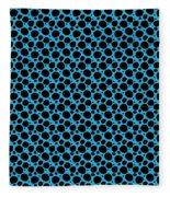 Dalmatian  Black Pattern 18-p0173 Fleece Blanket