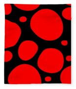 Dalmatian Pattern With A Black Background 02-p0173 Fleece Blanket