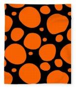 Dalmatian Pattern With A Black Background 03-p0173 Fleece Blanket
