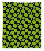 Dalmatian Pattern With A Black Background 09-p0173 Fleece Blanket
