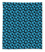 Dalmatian Pattern With A Black Background 18-p0173 Fleece Blanket