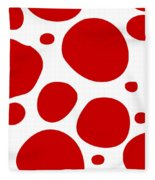 Dalmatian Pattern With A White Background 02-p0173 Fleece Blanket