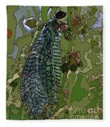 Damsel Fly Fleece Blanket