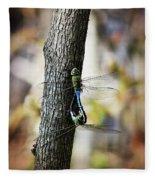 Dragonflies Need Love Too Fleece Blanket