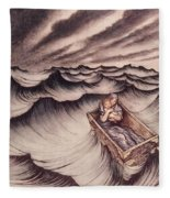 Danae And Her Son Perseus Put In A Chest And Cast Into The Sea Fleece Blanket