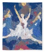 Dance Abstract In The Mix Fleece Blanket