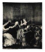 Dance In A Madhouse Fleece Blanket