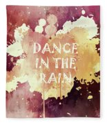 Dance In The Rain Red Version Fleece Blanket