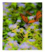 Dance Of The Butterflies Fleece Blanket