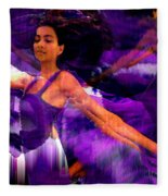 Dance Of The Purple Veil Fleece Blanket