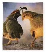 Dance Of The Quail Fleece Blanket