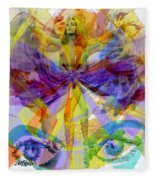Dance Of The Rainbow  Fleece Blanket