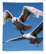 Aerial Dance Of The Seagulls Fleece Blanket