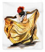 Dance The Belair Fleece Blanket
