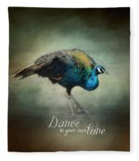 Dance To Your Own Tune - Peacock Art Fleece Blanket