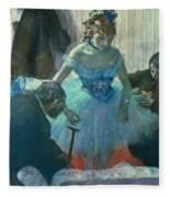 Dancer In Her Dressing Room Fleece Blanket by Edgar Degas