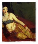 Dancer Of Delhi Betalo Rubino 1916 Fleece Blanket