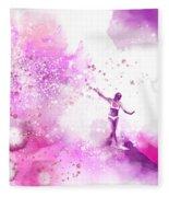 Dancer On Water 4 Fleece Blanket