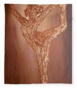 Dancer Silhouette Fleece Blanket