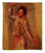 Dancer With Castenets 1895 Fleece Blanket