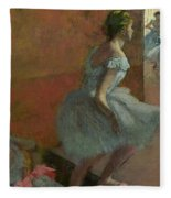 Dancers Ascending A Staircase Fleece Blanket by Edgar Degas