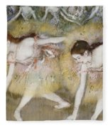 Dancers Bending Down Fleece Blanket