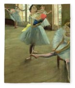 Dancers In The Classroom Fleece Blanket