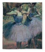 Dancers In Violet  Fleece Blanket