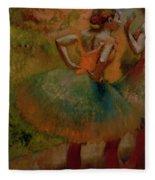 Dancers Wearing Green Skirts Fleece Blanket