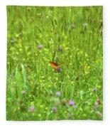 Dancing Among The Flowers Fleece Blanket