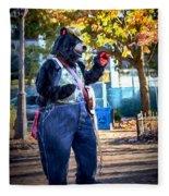 Banjo Beary In Pritchard Park Fleece Blanket