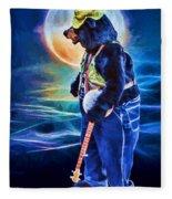 Dancing Bear With Banjo Fleece Blanket