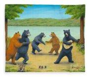 Dancing Bears Fleece Blanket
