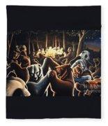 Dancing Bears Painting Fleece Blanket