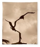 Dancing Birds Fleece Blanket