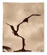Dancing Birds Fleece Blanket