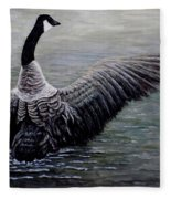 Dancing Canada Goose Fleece Blanket