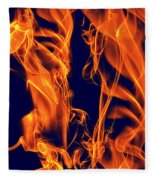 Dancing Fire I Fleece Blanket