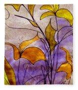 Dancing Flora Fleece Blanket