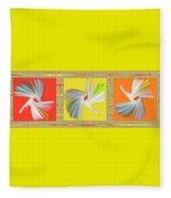 Dancing Flower Trio Fleece Blanket
