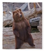 Dancing Grizzly Fleece Blanket