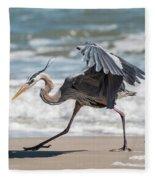 Dancing Heron #1/3 Fleece Blanket